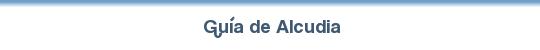 Guía de Alcudia